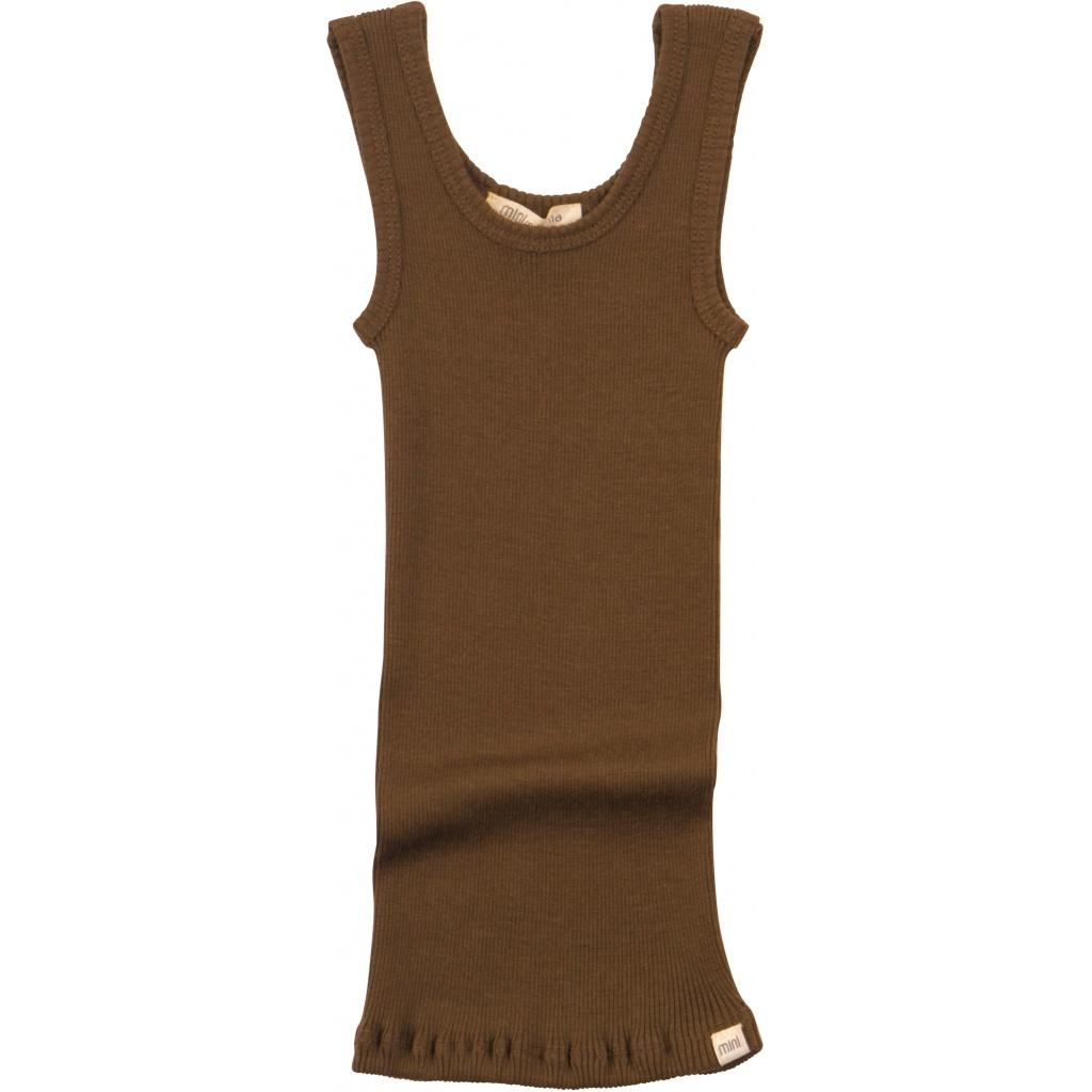 Minimalisma wollen hemd ARENDAL - fijne rib - 100% merino - cinnamon - 2 tm 12 jaar