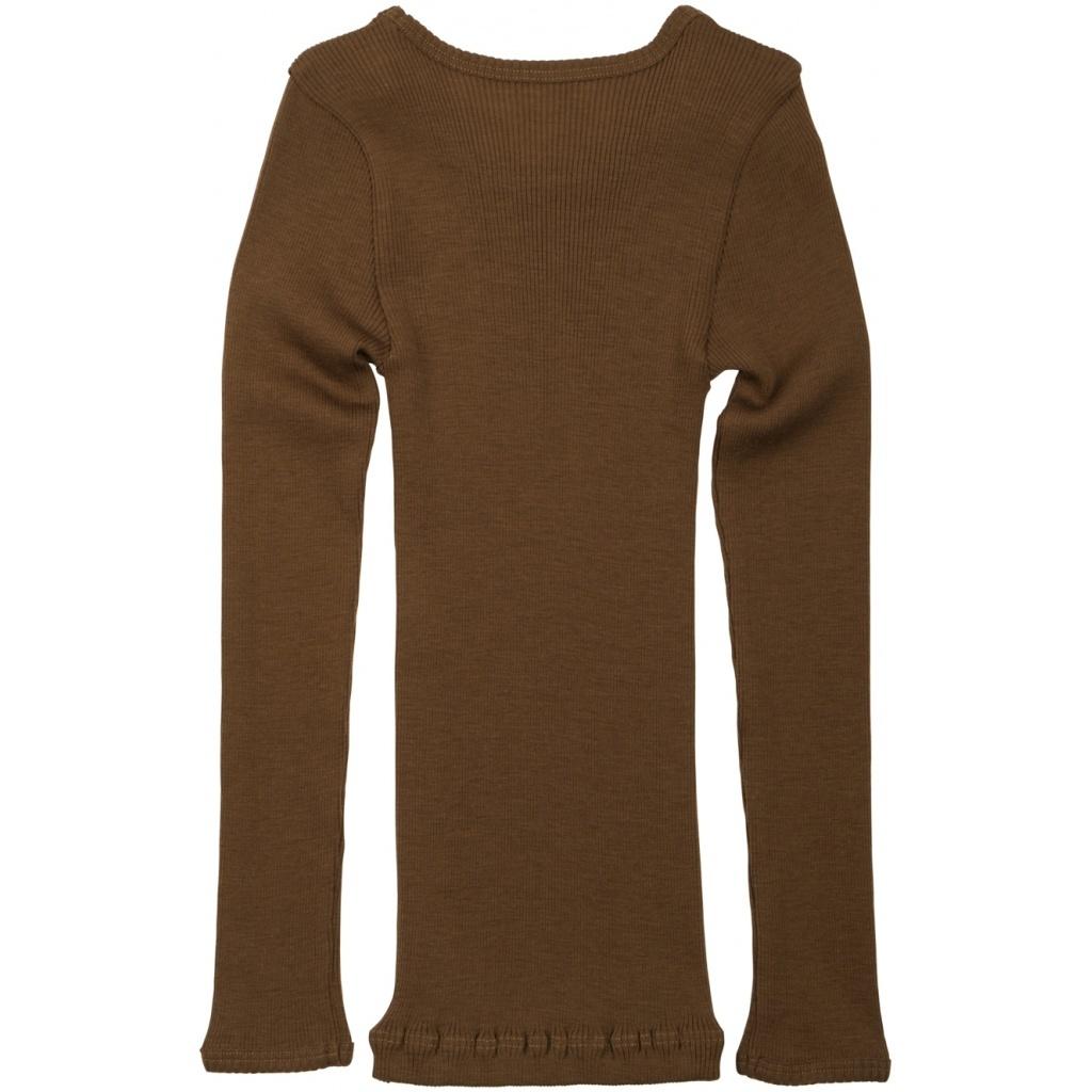 Minimalisma wollen shirt ATLANTIC - fijne rib - 100% merino - cinnamon - 2 tm 14 jaar