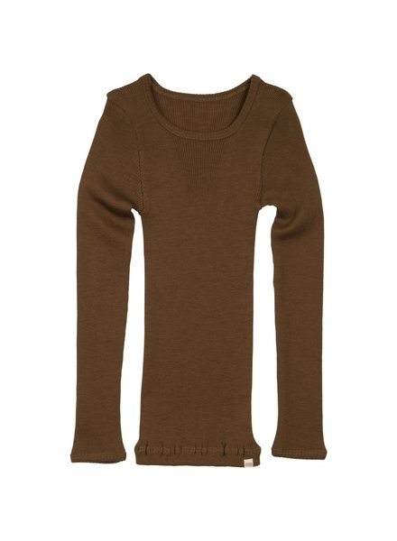 Minimalisma ATLANTIC long sleeve wool - fine rib - 100% merino - cinnamon - 2y to 14y