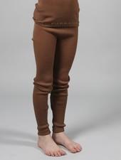 Minimalisma ARONA leggings wool - fine rib - 100% merino - cinnamon - 0 to 12y