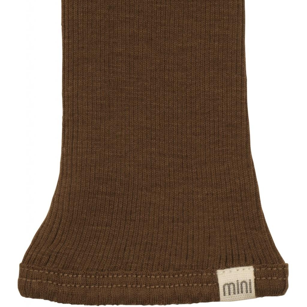 Minimalisma wollen legging ARONA - fijne rib - 100% merino - cinnamon - 0 tm 12 jaar