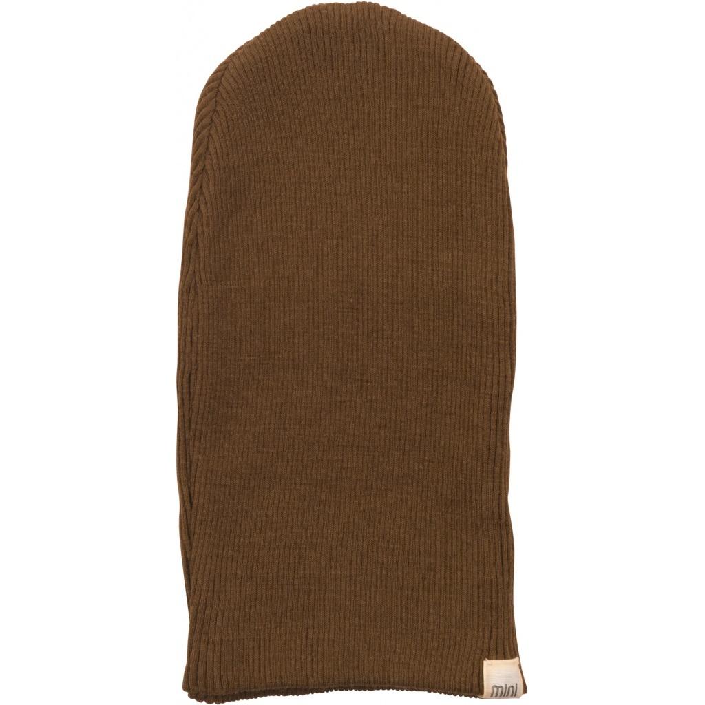 Minimalisma ANDERSEN beanie/ baby muts wol - fijne rib - 100% merino - cinnamon - 0 tm 12 jaar