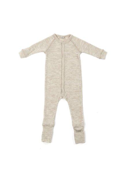 Smallstuff wollen babypak - 100% merino wol - ajour beige - maat 56 tm 92