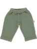 Poudre Organic BRUYERE baby pants - honeycomb structure - 100% cotton - sea green - 6 months to 4 years