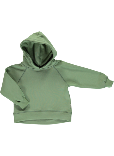 Poudre Organic CITRON hooded sweatshirt - 100% organic cotton - sea green - 2 to 8 years