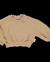 Poudre Organic sweatshirt CEDRAT - 100% biologisch katoen - camel zandkleur - 2 tm 8 jaar