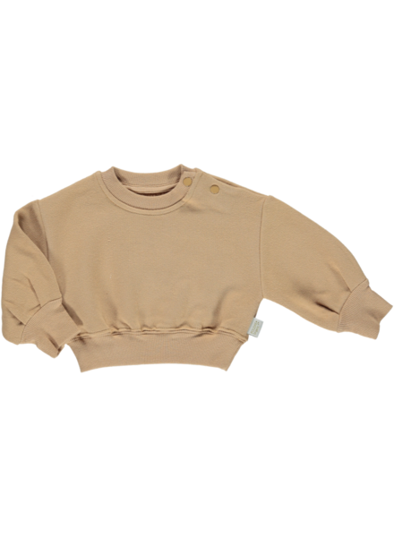 Poudre Organic CEDRAT sweatshirt - 100% organic cotton - camel tan - 2 to 8 years