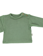 Poudre Organic ESTRAGON terry shirt  - 100% organic cotton - oil green  - 6 m to 8 years