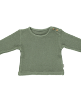 Poudre Organic ESTRAGON honeycomb shirt - 100% organic cotton - oil green  - 6 m to 8 years