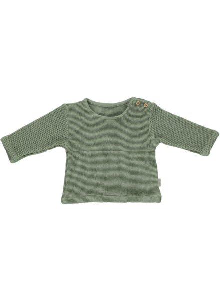 Poudre Organic ESTRAGON honeycomb shirt - 100% organic cotton - oil green  - 6 m to 8 years