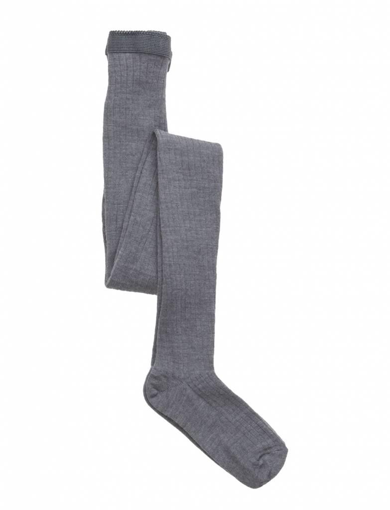 MP Denmark wollen maillot - geribd - licht grijs gemeleerd - 80 tm 160