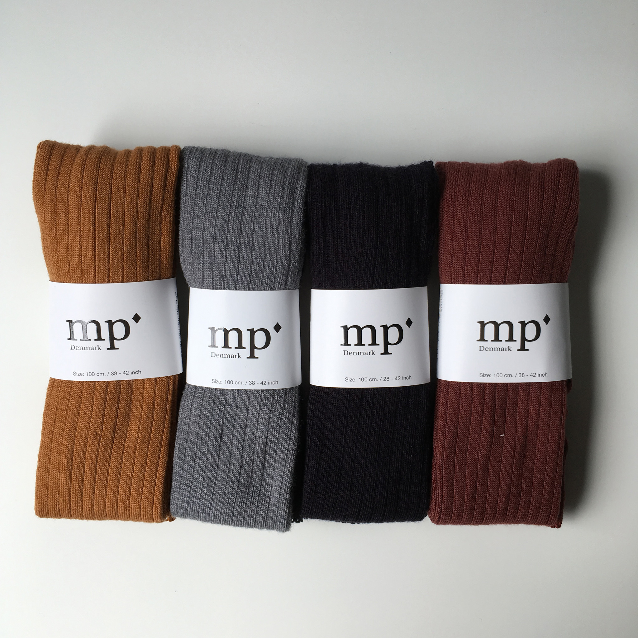 MP Denmark wool tights - ribbed - dark honey - 90 to 130