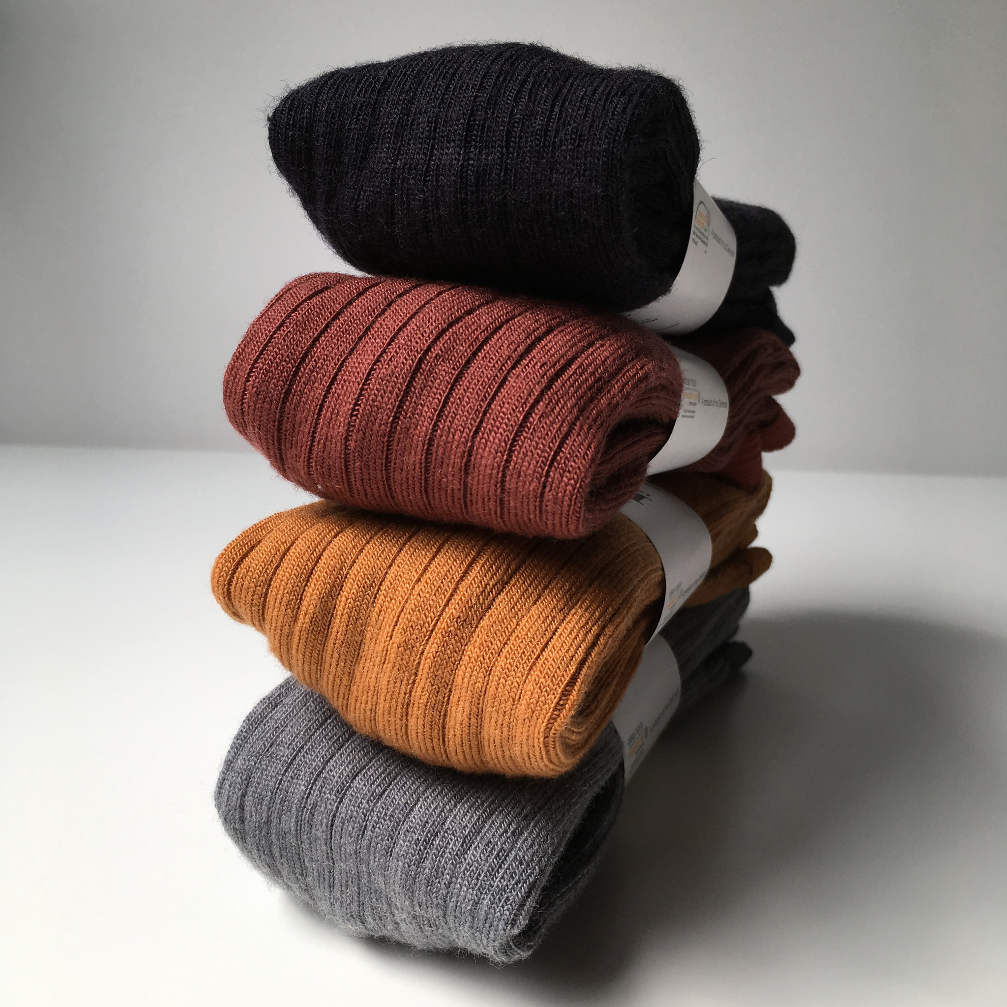 MP Denmark wool tights - ribbed - red brown  - 90 to 130