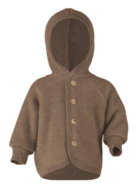 Engel Natur wool baby jacket - 100% merino wool fleece - walnut brown - 50 to 92