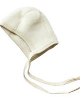 Engel Natur woolen baby bonnet - 100% merino wool fleece - natural - 50 to 68