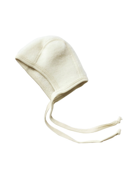 Engel Natur woolen baby bonnet - 100% merino wool fleece - natural - 50 to 68