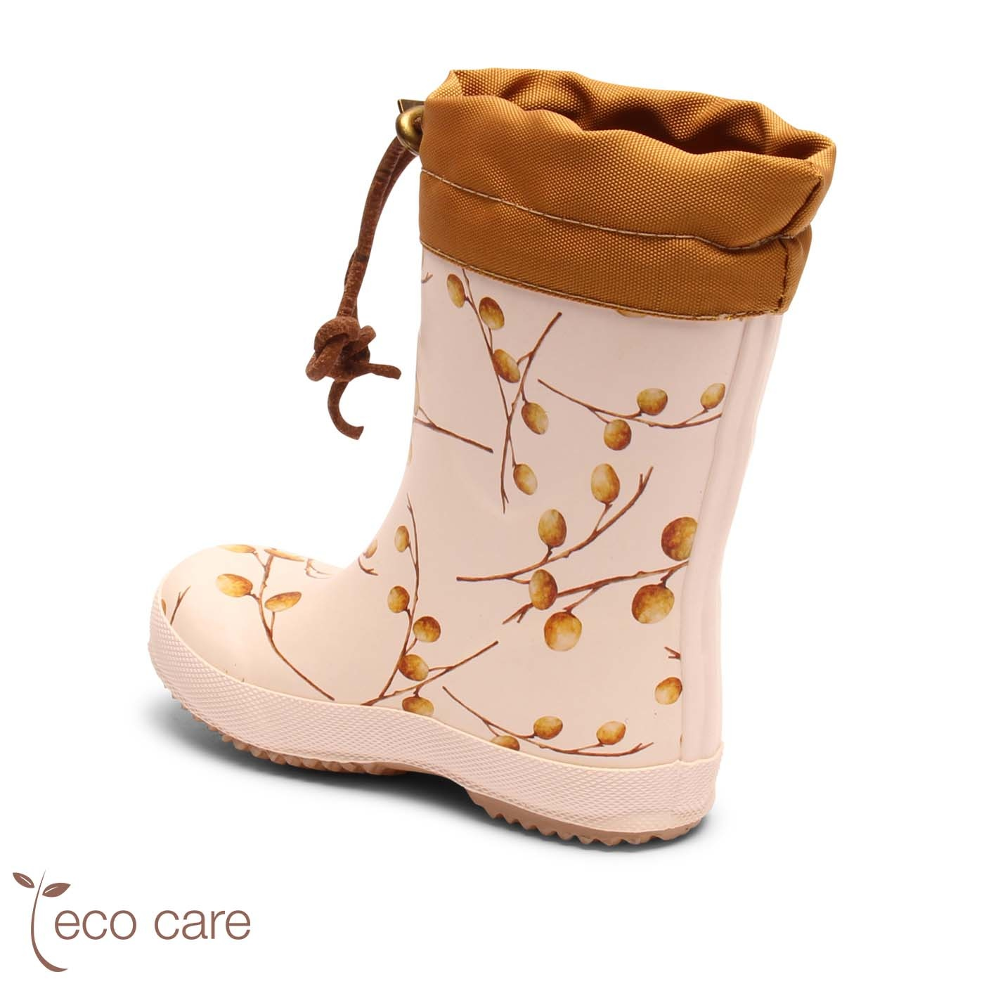 BISGAARD girl eco thermo boot - wool lined rainboot - natural rubber LONGAN FRUIT - 22 to 38