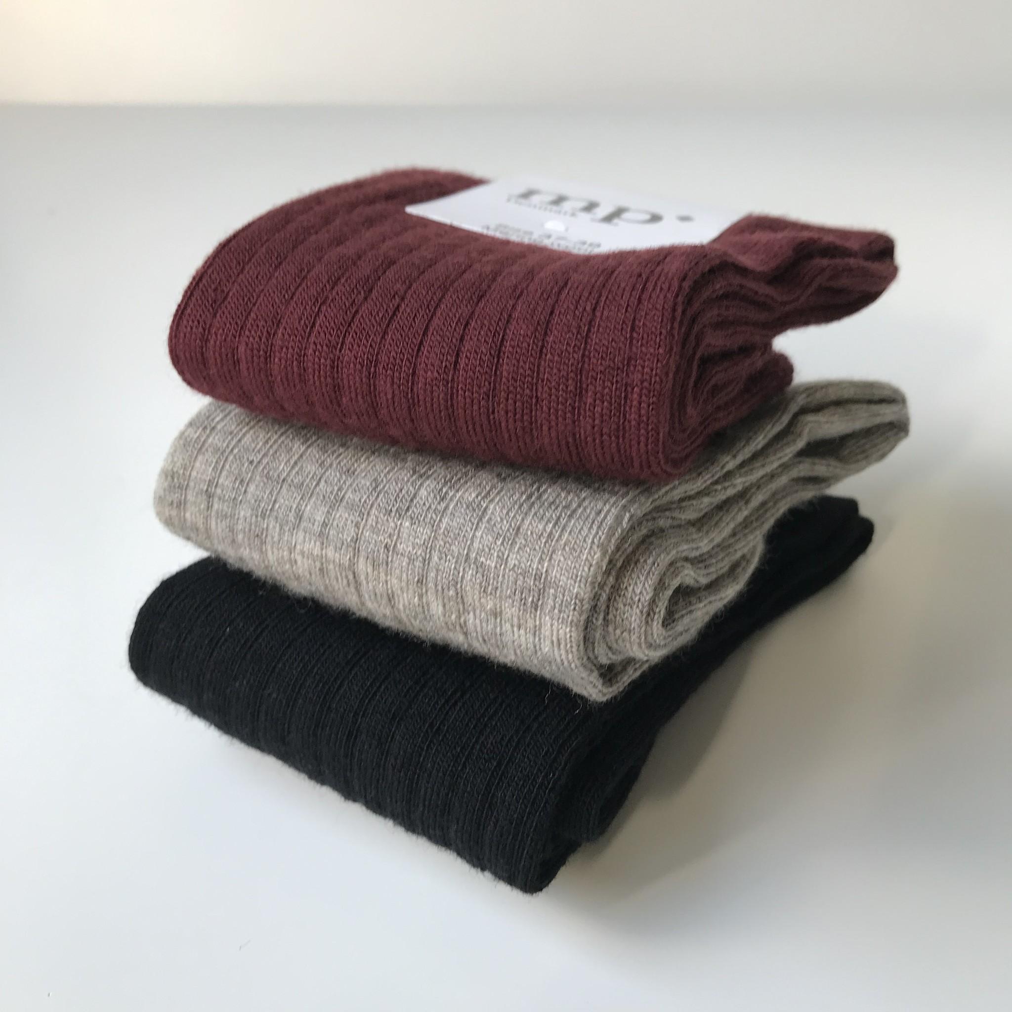 MP Denmark woolen socks - 80% merino wool - beige melange - size 37 to 42