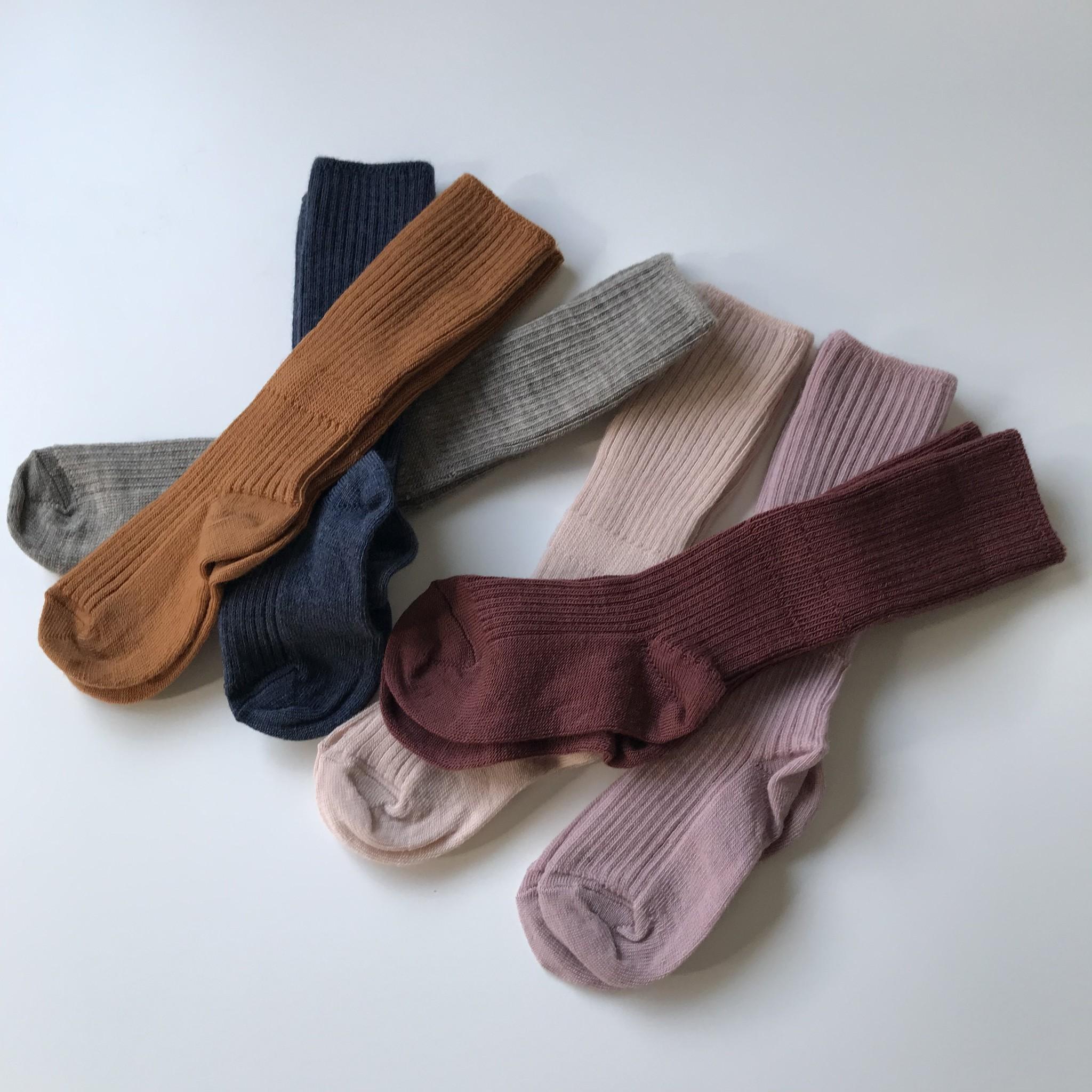 MP Denmark woolen knee socks - 80% merino wool - denim blue - size 15 to 32