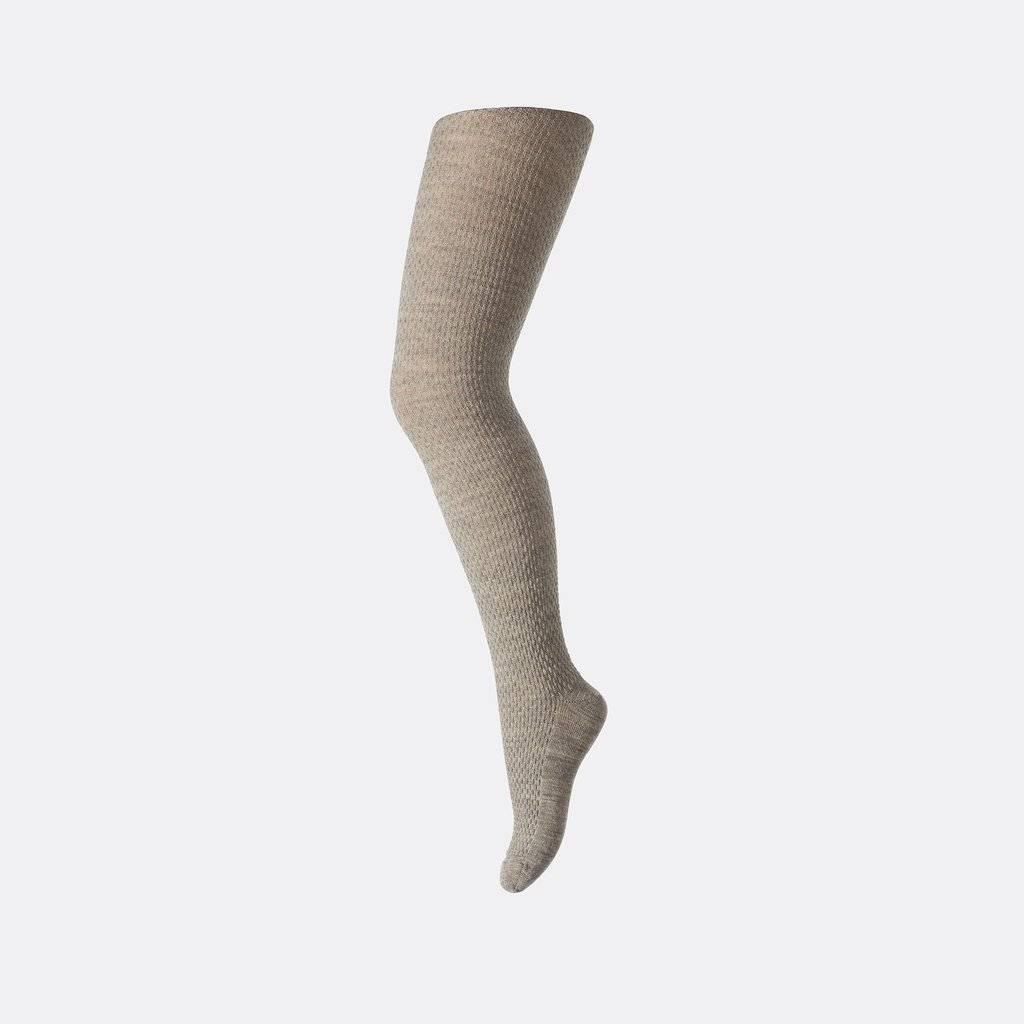 MP Denmark woolen women tights - 80% merino wol - beige grey - S, M, L