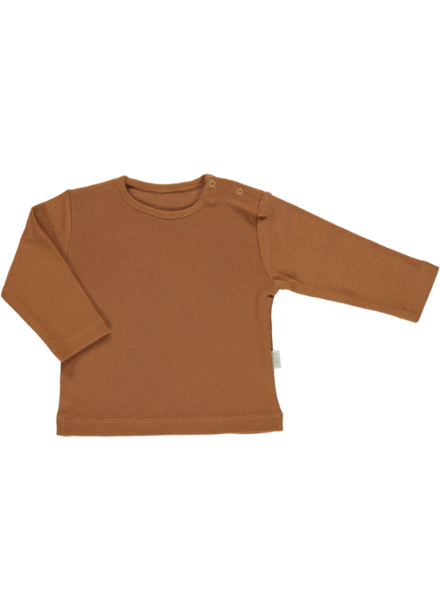 Poudre Organic PAPRIKA longsleeve shirt  - 100% organic jersey cotton - caramel cafe  - 1 to 8 years
