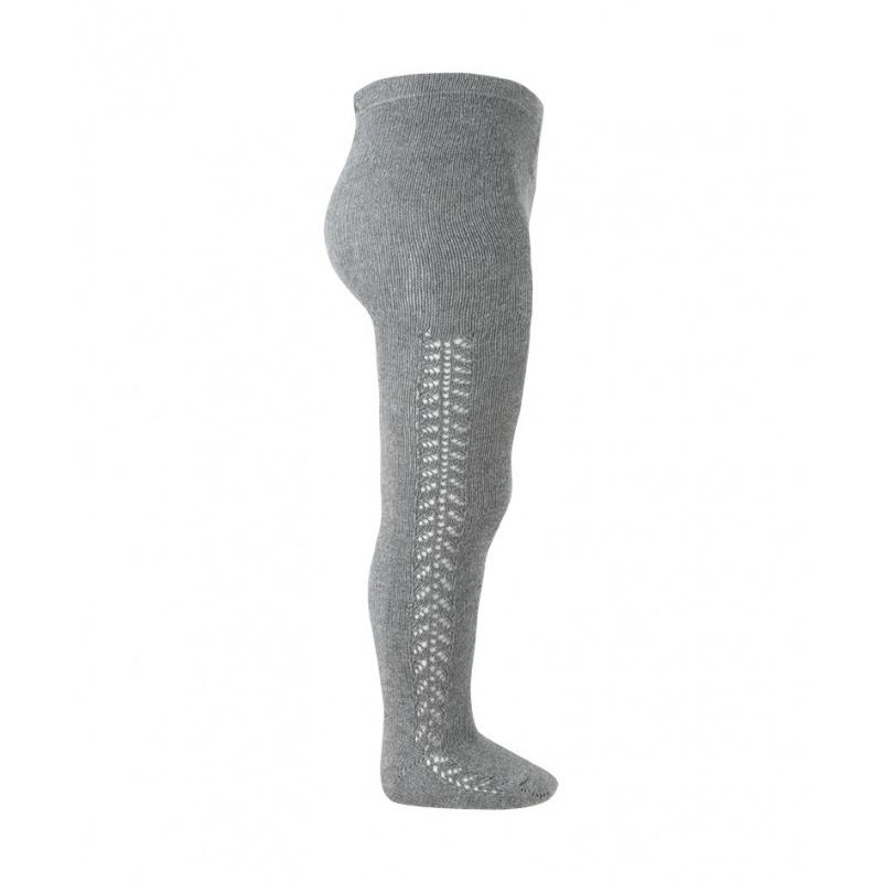 Condor katoenen maillot - opengewerkte zijkant - licht grijs - 50 tm  118 cm