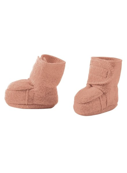 DISANA boiled wool baby booties - 100% organic merino wool - pink