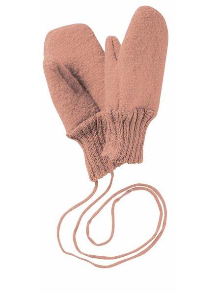 DISANA boiled wool mittens - 100% organic merino wool - pink