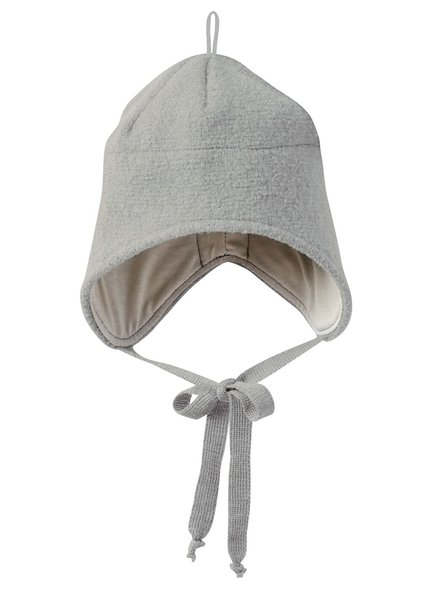 DISANA boiled wool hat - 100% organic merino wool - grey