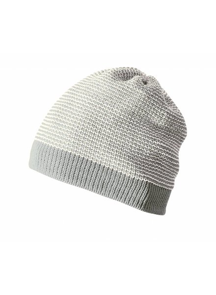 DISANA woolen hat knitted - 100% organic merino wool - grey