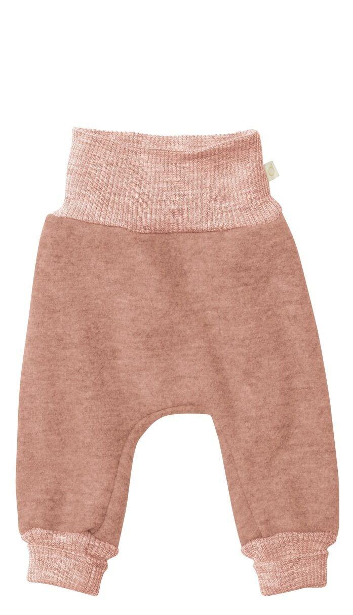 DISANA gekookte wollen broek - 100% biologisch merino wol - roze - 50 tm 104
