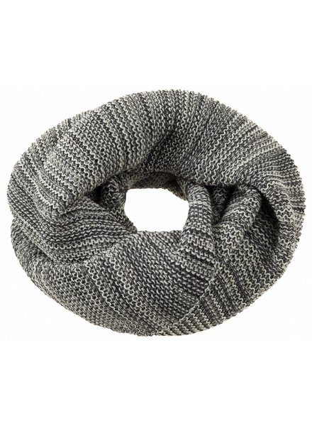 DISANA woolen loop scarf knitted - 100% organic merino wool - anthracite