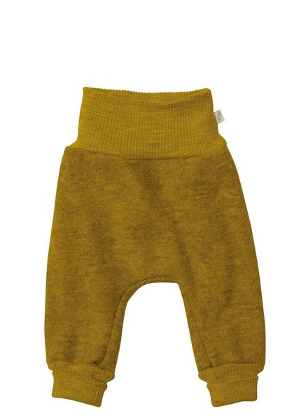 DISANA boiled wool pants - 100% organic merino wool - golden ochre - 50 to 104