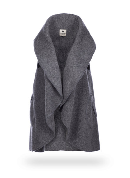 Alwero ALWERIA woolen ladies vest - 100% merino wool - anthracite gray - one size
