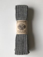 Baby Alpaca by De Colores woolen legwarmers adult - knitted in 100% baby alpaca - rib - light grey