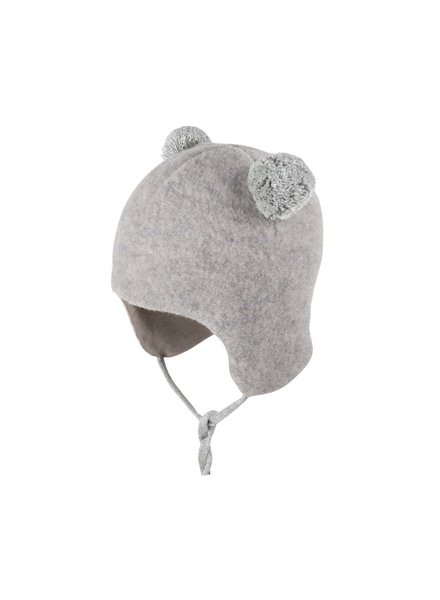 Pure Pure by Bauer - woolen babyhat  -  organic merino wool fleece - light grey