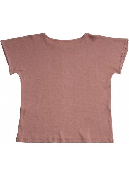 Minimalisma - zijden t-shirt HELLE - fijne rib - 70% zijde/ 30% katoen -  tulp roze - 2  tm 12 jaar
