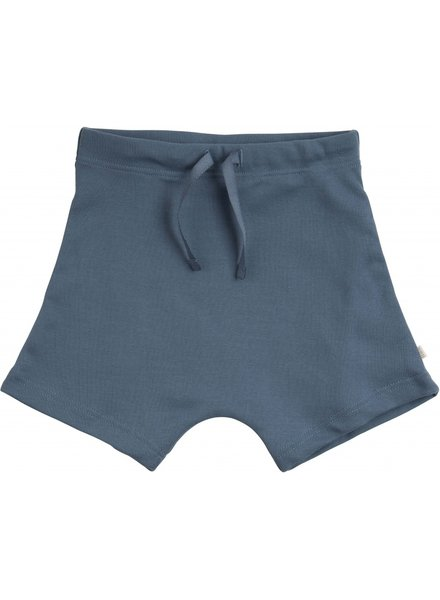 Minimalisma - short pants NORSE- 100% organic jersey cotton - blue - 2 to 10 Y