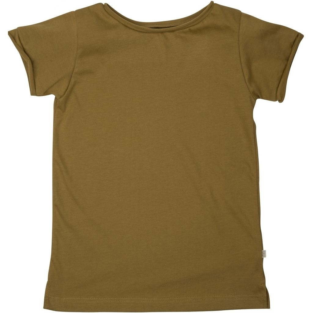 Minimalisma - STORM t-shirt -100% lightweight organic jersey cotton - golden leaf - 2 to 12 years
