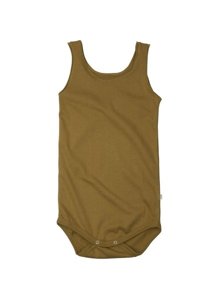 Minimalisma - NAPOLI tanktop baby body  - 100% organic cotton - golden leaf - 1m to 3 Y