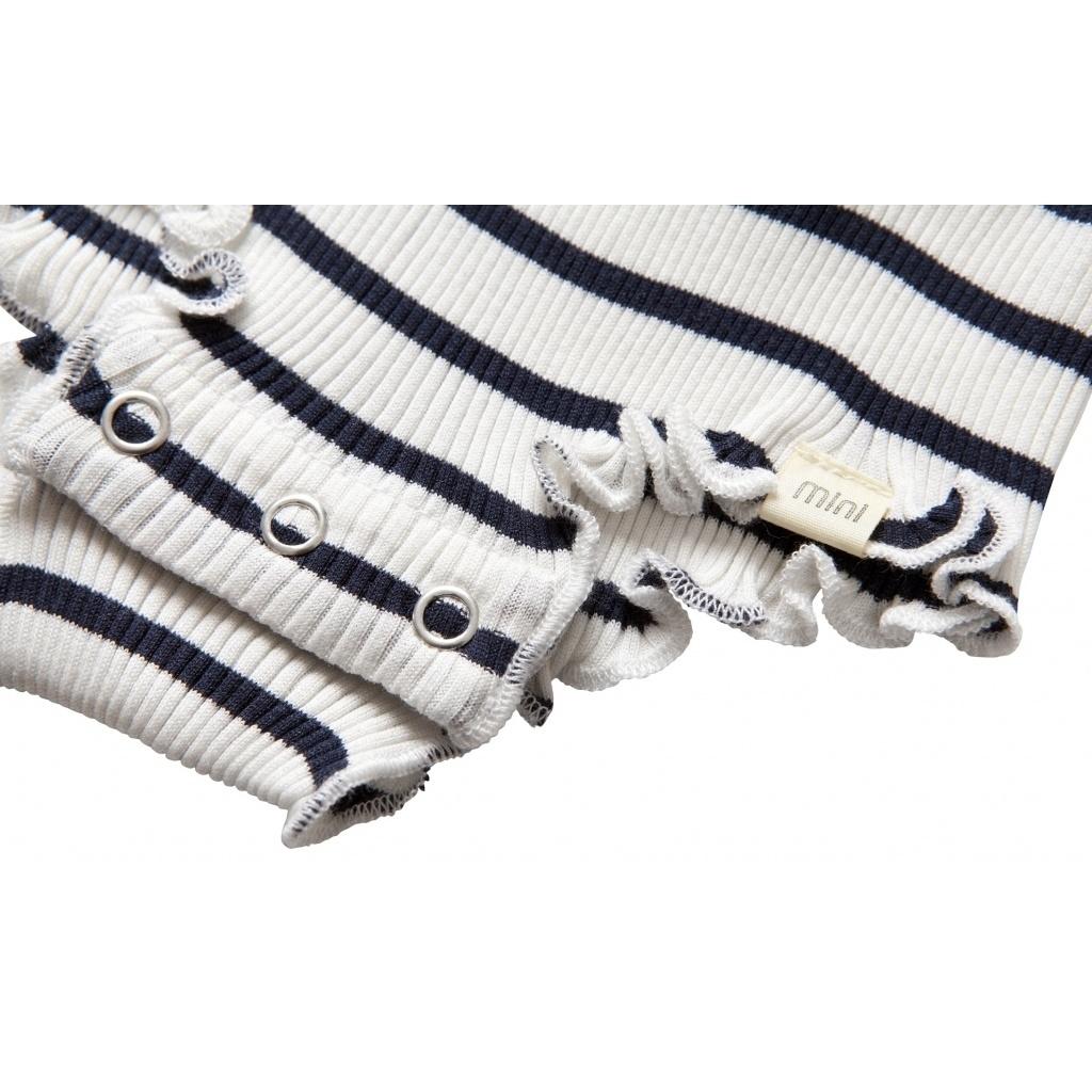 Minimalisma - zijden romper BARCELONA mouwloos met froesels - 70% zijde - sailor - 1 m tm 3 jaar