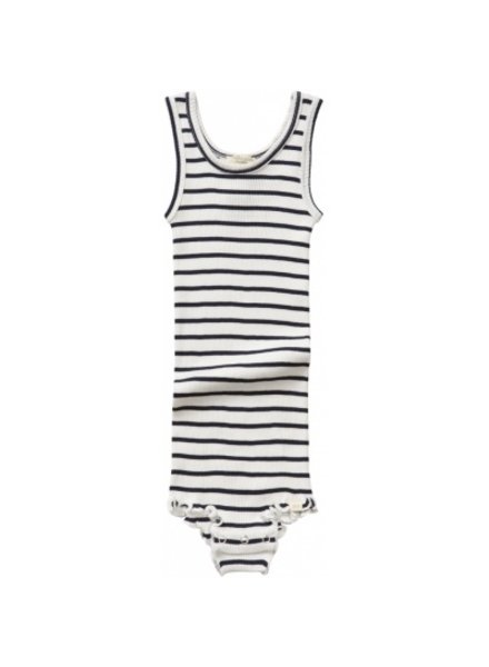 Minimalisma - silk BARCELONA tanktop body frills - 70% silk - sailor - 1 m to 3 years