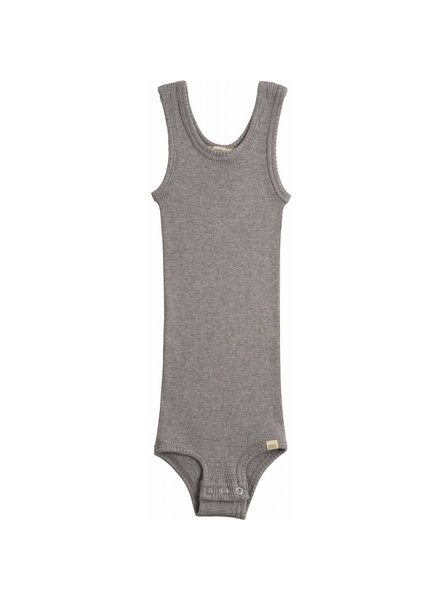Minimalisma - tanktop body BORNHOLM - 70% silk - grey  - 1 m to 3 y