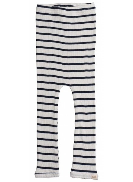 Minimalisma - BIEBER silk leggings - fine rib - 70% silk - sailor stripes - 0 to 12 years
