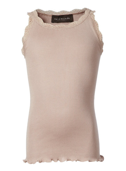 Rosemunde - girls silk top with lace - 55% silk/ 45% cotton (knitwear) - vintage pink - 2 to 12 years