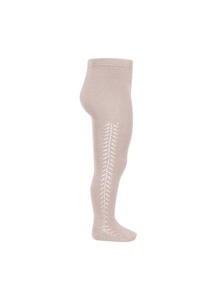 Condor - katoenen maillot - opengewerkte zijkant - oud roze - 50 tm  118 cm