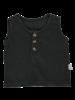 Poudre Organic - linen tanktop SUREAU - 100% organic linen - pirate black - 12m to 6y