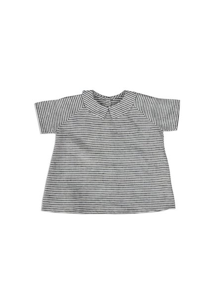 As We Grow - linen blouse ORK - 100% linen - ecru/ grey stripes - 18m to 8 years