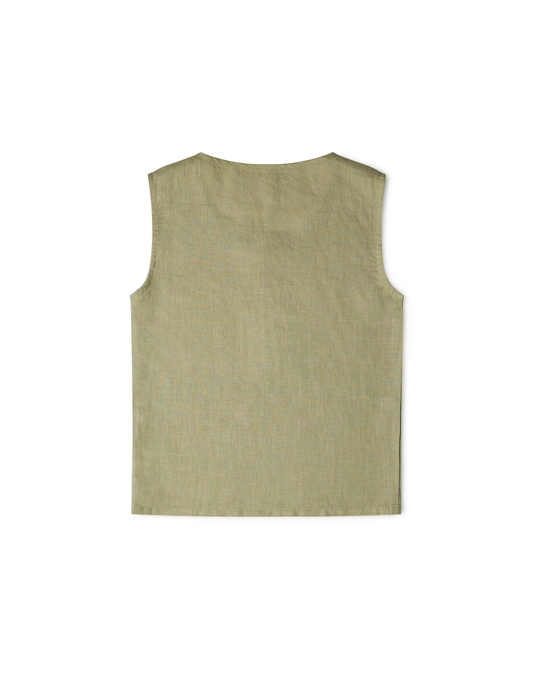 Matona - linen tanktop FAWN - 100% linen - sage - 1 to 6 years