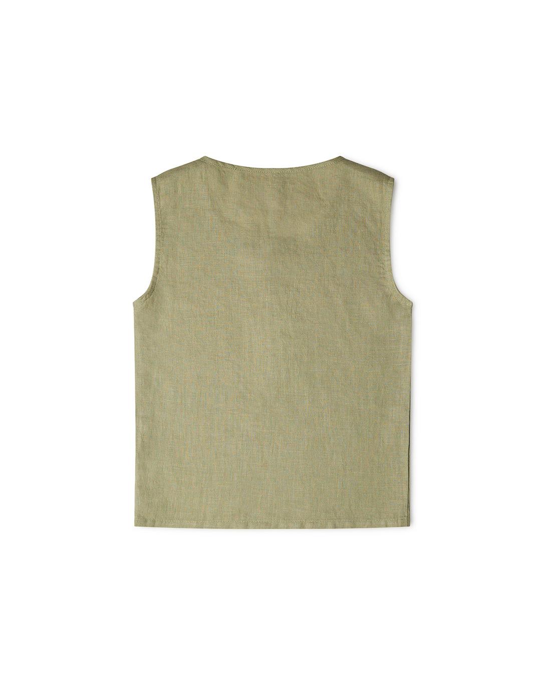 Matona - linen tantkop FAWN - 100% linen - sage - 1 to 6 years